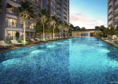 Rivercove Residences Artist's Impression - Pool