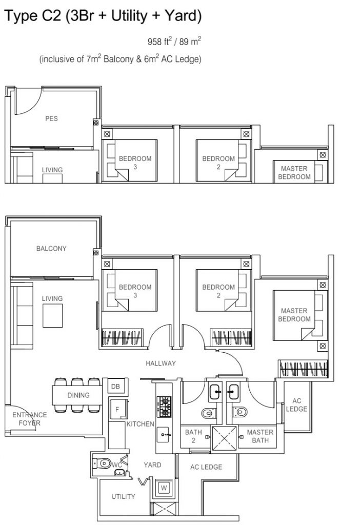 Rivercove Residences EC Floor Plan - C2