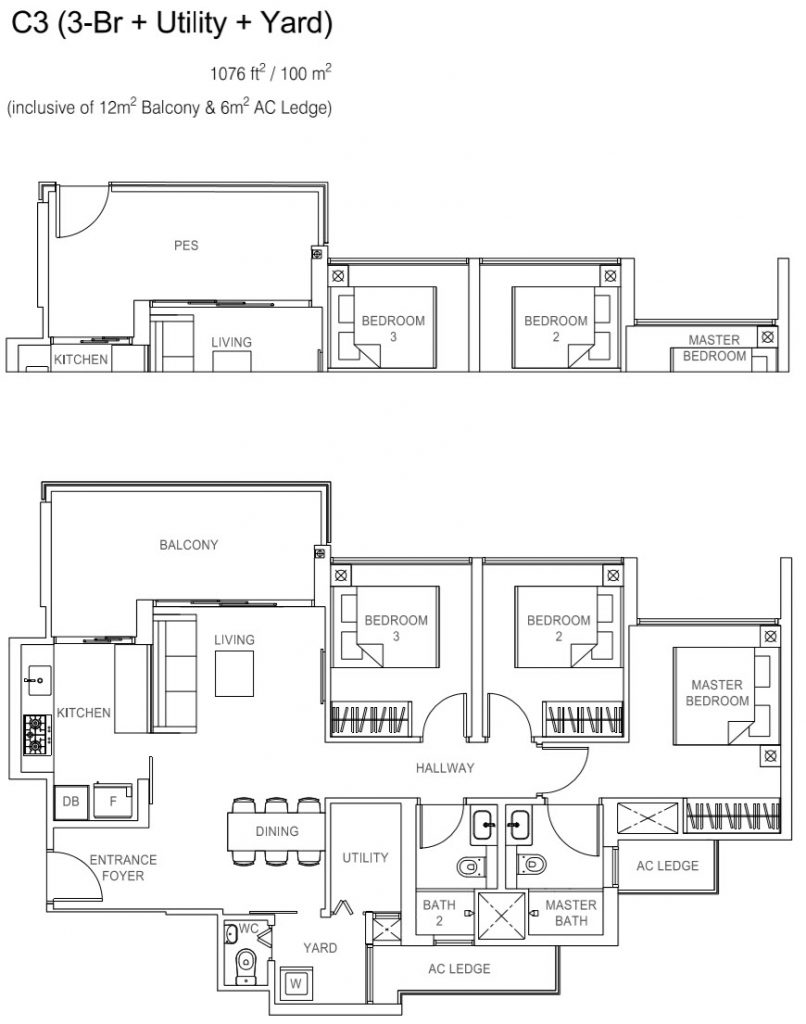 Rivercove Residences EC Floor Plan - C3