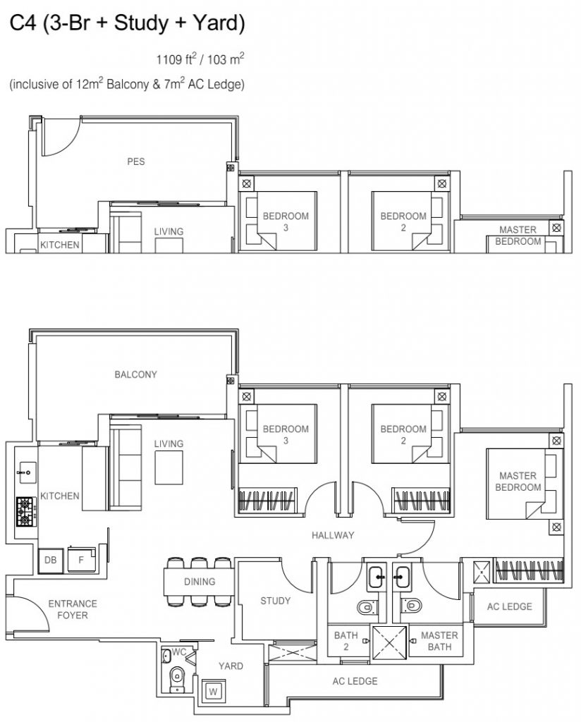 Rivercove Residences EC Floor Plan - C4