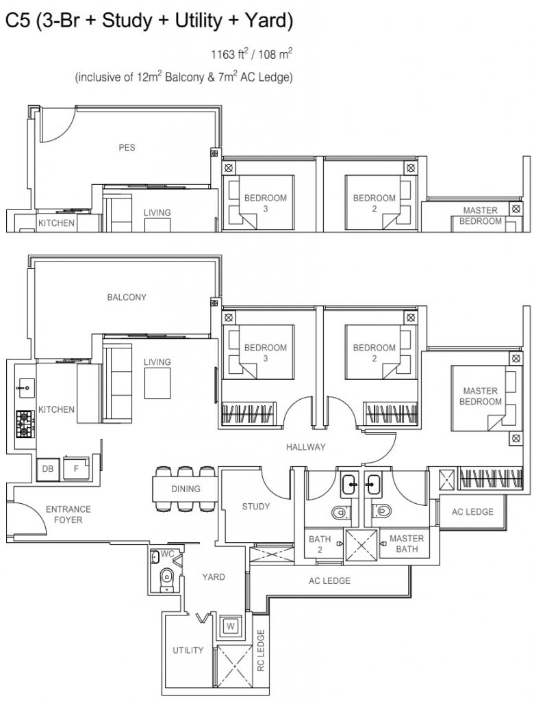 Rivercove Residences EC Floor Plan - C5
