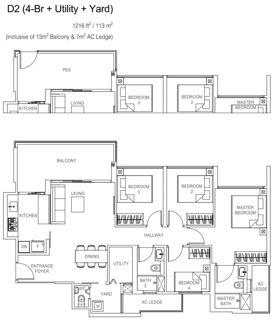 Rivercove Residences EC Floor Plan - D2