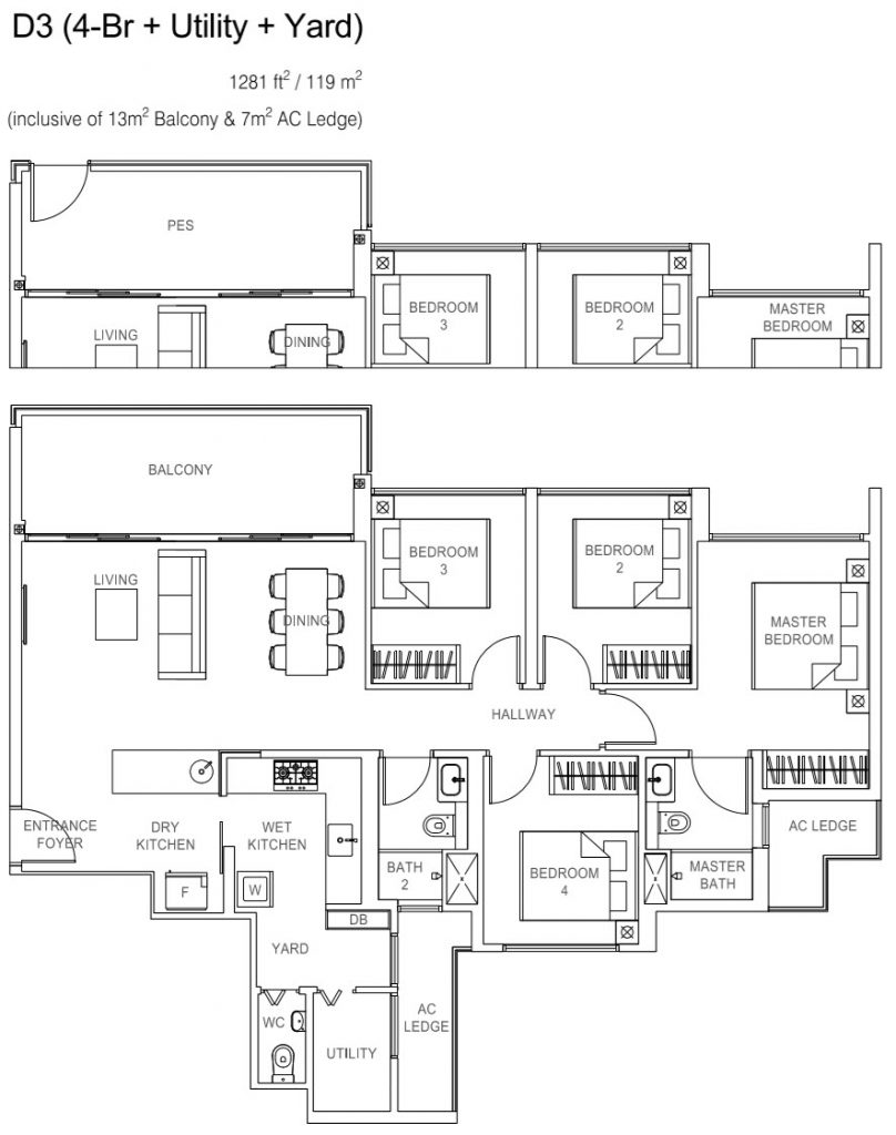 Rivercove Residences EC Floor Plan - D3