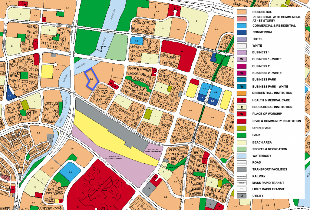 Rivercove Residences EC Location Map (URA Masterplan)