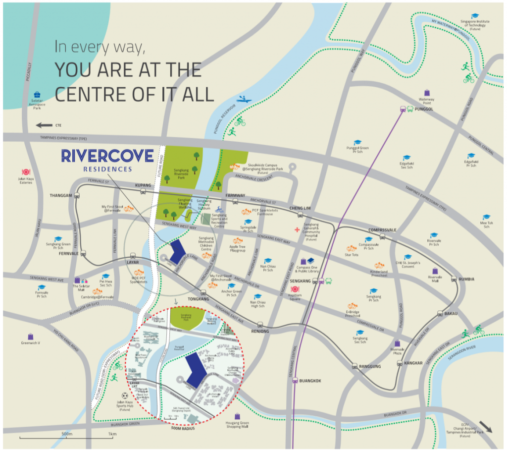 Rivercove Residences EC Location Map