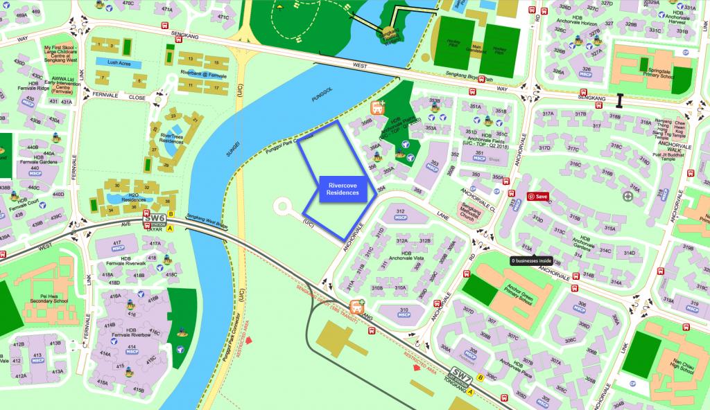 Rivercove Residences EC Location Map (Street Directory)